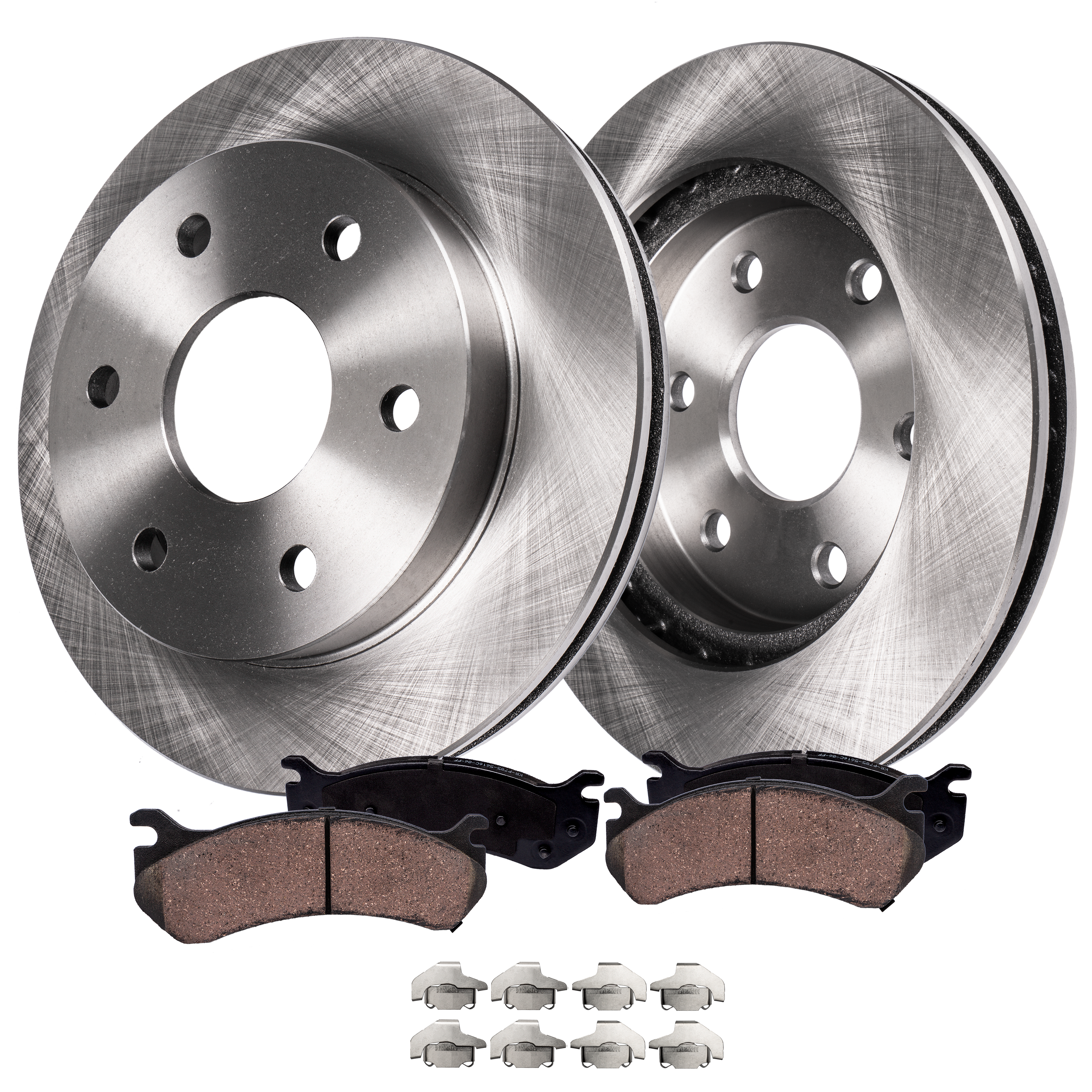 Ceramic Pads For 2006-2008 2009 2010 Hummer H3 Front+Rear Drill Brake Rotors