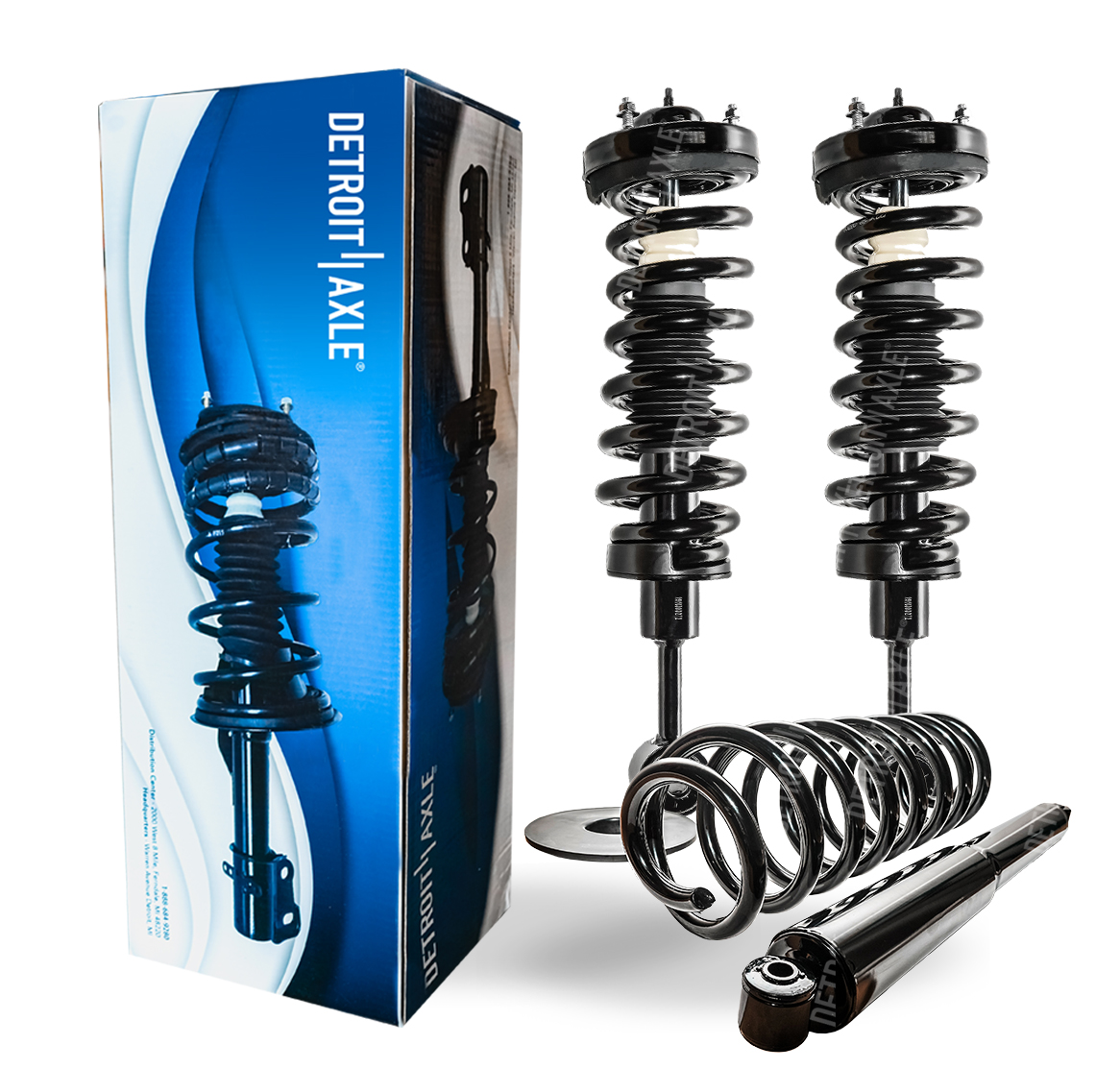 Replacement Front Struts w//Coil Spring Shocks Pair for 1998 1999 2000 2001 2002 Honda Accord Detroit Axle Front